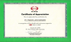 Hino - Certificate Of Appreciation