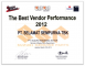 Suzuki - The Best Vendor Performance